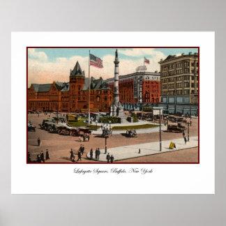 Lafayette Square Vintage Buffalo Poster
