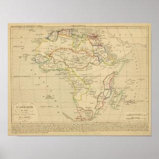 L'Afrique en 1840 Poster
