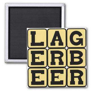 Lager Beer, Type of Ale Refrigerator Magnet
