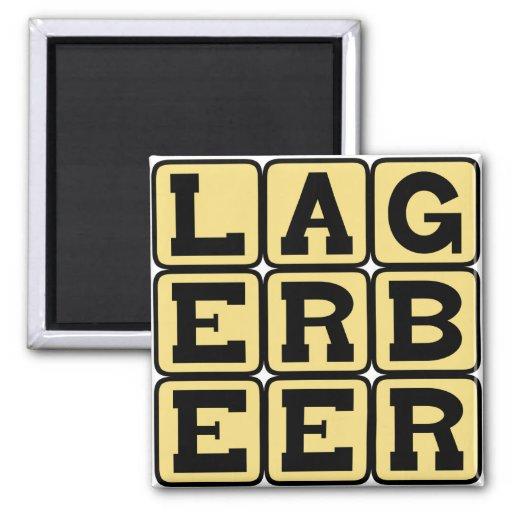 Lager Beer, Type of Ale Refrigerator Magnet