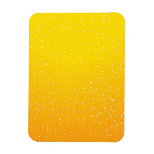 Lager Beer with Tiny Bubbles Background Art Magnet
