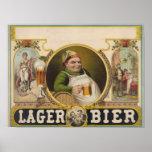 Lager Bier Beer Funny Vintage Poster Art