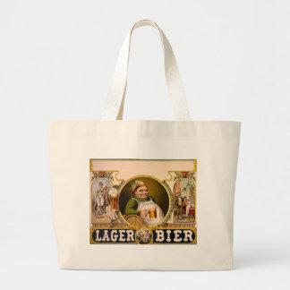 Lager Bier - The Healthy Drink! Vintage Ad Jumbo Tote Bag