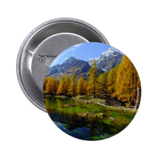 lago-bleu-20042 6 cm round badge