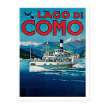 Lago Di Como Italy Vintage Travel Poster Art Postcards