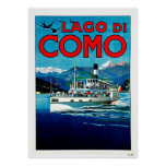 Lago di Como Lake Italy Vintage Travel