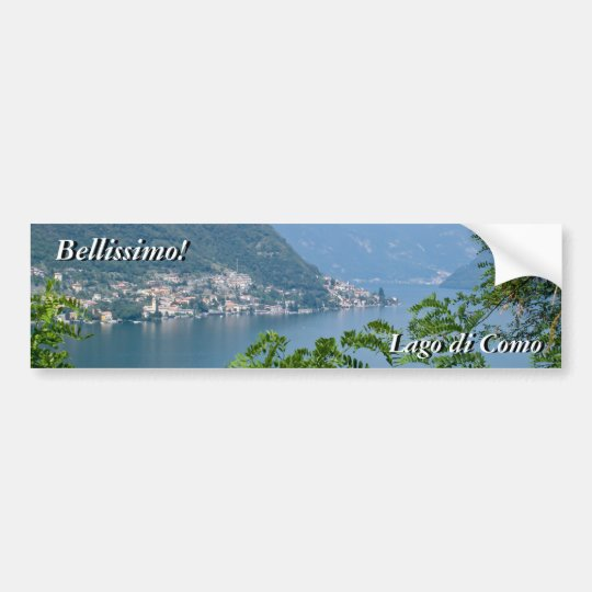 Lago di Como Sticker Bumper Sticker