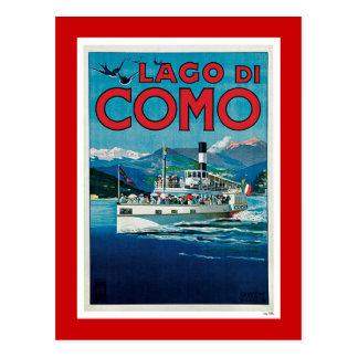 """Lago di Como"" Vintage Italian Travel Poster Postcard"