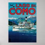 Lago Di Como Vintage Travel Poster