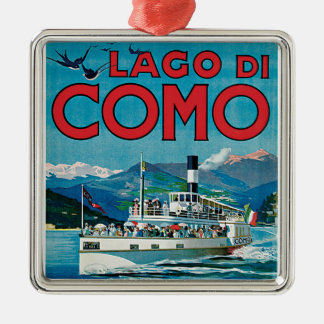 Lago Di Como Vintage Travel Poster Christmas Ornament