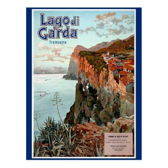Lago di Garda Lake Garda Vintage Poster Postcard