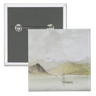 Lago Maggiore (w/c, pen, ink and graphite on paper 15 Cm Square Badge
