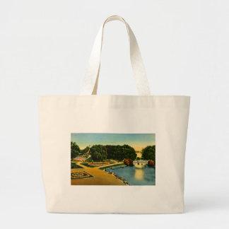 Lagoon and Mound Belle Isle, Detroit, Michigan Bag