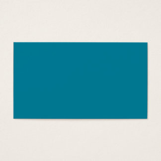 Lagoon Deep Teal Blue Solid Trend Color Background Business Card
