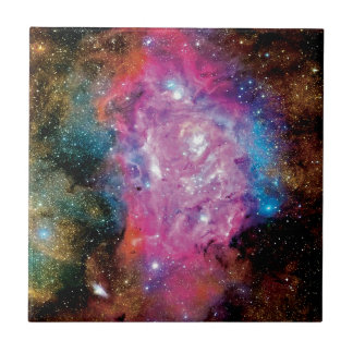 Lagoon Emission Nebula Interstellar Cloud Photo Small Square Tile