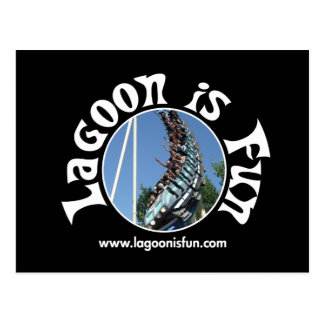 Lagoon Is Fun - Colossus Dark Postcard