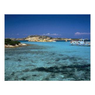 Lagoon Mediterranean Island of Sardinia Full Color Flyer