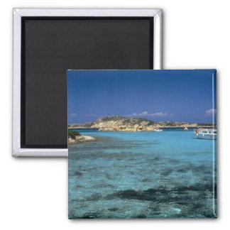 Lagoon, Mediterranean Island of Sardinia Square Magnet