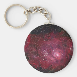 Lagoon Nebula Basic Round Button Key Ring