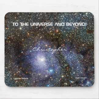 Lagoon nebula custom name astronomy mouse mat