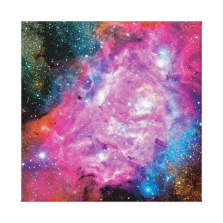 Lagoon Nebula NGC 6523 Stretched Canvas Prints