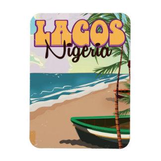 Lagos, Nigeria vintage travel poster Magnet