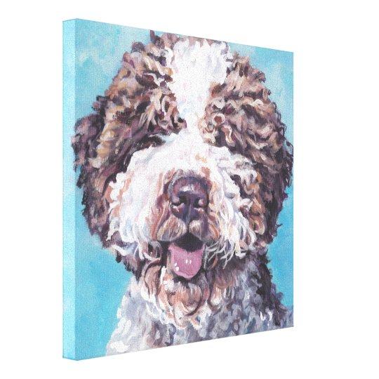 Lagotto Romagnolo fine art dog painting Canvas Print