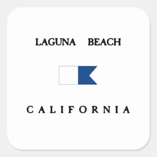 Laguna Beach California Alpha Dive Flag Square Sticker