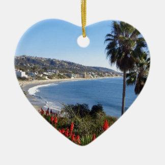 laguna beach california ceramic heart decoration