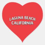 Laguna Beach California Heart Stickers