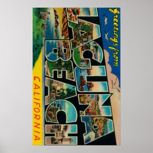 Laguna Beach, California - Large Letter Scenes Print