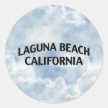 Laguna Beach California Round Sticker