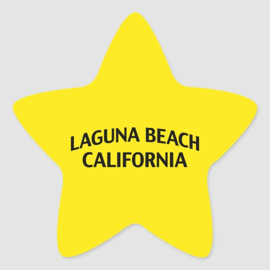Laguna Beach California Star Sticker