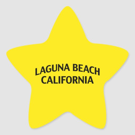 Laguna Beach California Star Stickers