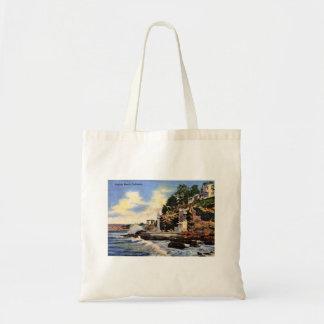 Laguna Beach, California, Vintage View Tote Bag