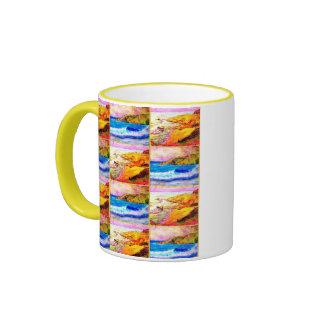 laguna beach collage ringer mug