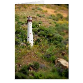 Laguna Beach Light Tower Greeting Card