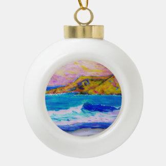 laguna beach splash ceramic ball decoration