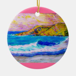 laguna beach splash christmas ornament