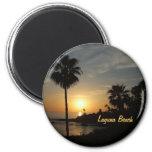 Laguna Beach sunset palm magnet