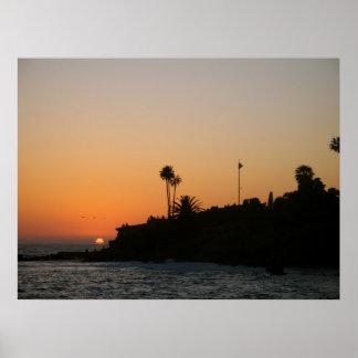 Laguna Beach Sunset Scenic Photo Poster
