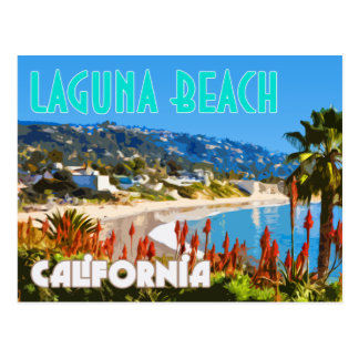 Laguna Beach Vintage Travel Poster Postcard