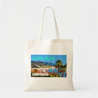 Laguna Beach Vintage Travel Poster Style Budget Tote Bag