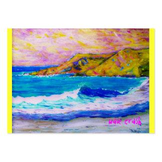 laguna beach wave splash pack of chubby business cards