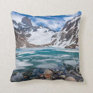 Laguna De Los Tres And Mount Fitzroy Cushion