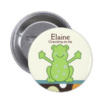 Laguna frog Name Tag Baby Shower Button