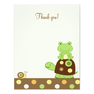 Laguna Frog & Turtle 4x5 Flat Thank you note 11 Cm X 14 Cm Invitation Card
