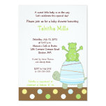 Laguna Frog & Turtle 5x7 Baby Shower Invitation