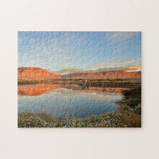 Laguna Nimez Sunset, El Calafate Jigsaw Puzzles