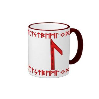 Laguz Rune red Coffee Mugs